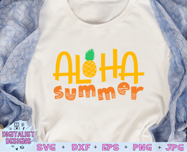 Aloha Summer SVG cut file! This would be amazing for a variety of DIY Summer craft projects such as: HTV T-shirts, mugs, home decor, scrapbooking, stickers, planners, and more! Cricut Design Space and Silhouette Studio compatible. Vector clip art printable.