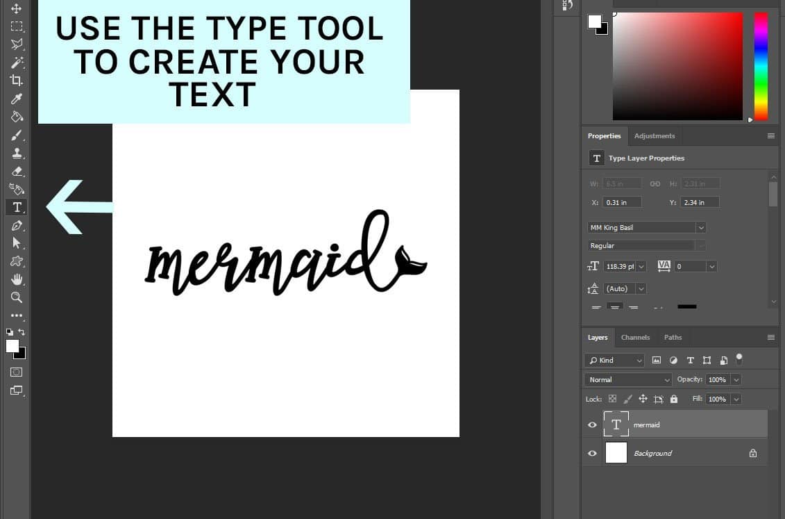 How to Create Mermaid Text in Photoshop