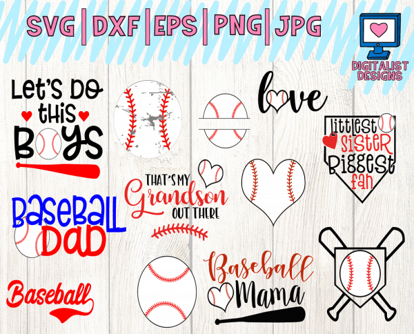 Baseball SVG Bundle - 13 Designs
