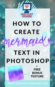 Wondering how to to create mermaid text in Photoshop, or where to get free mermaid textures to use in Photoshop? It's actually very simple, and this technique can be used with a variety of different textures for a really unique and stylish look! This step-by-step tutorial will walk you through all the steps of using a clipping mask in Photoshop. Plus it includes a free mermaid texture!