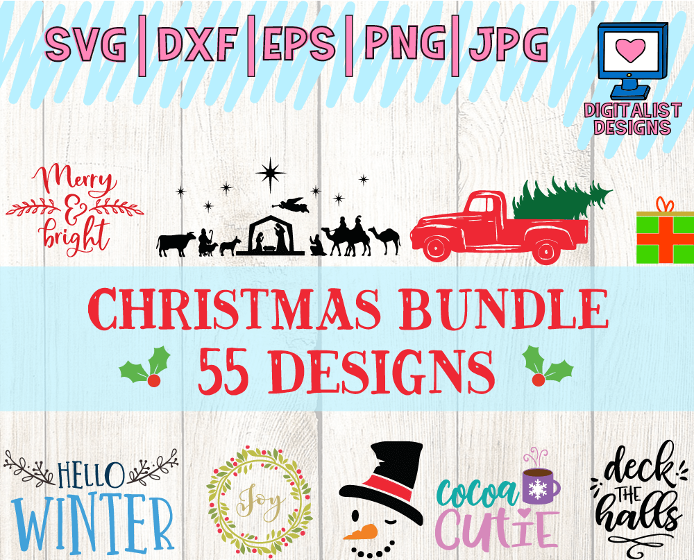 If you'd like to see more Christmas SVG files, check out my Christmas SVG Bundle! It includes 55 different Christmas cut files that are sure to make your holiday a lot more festive.