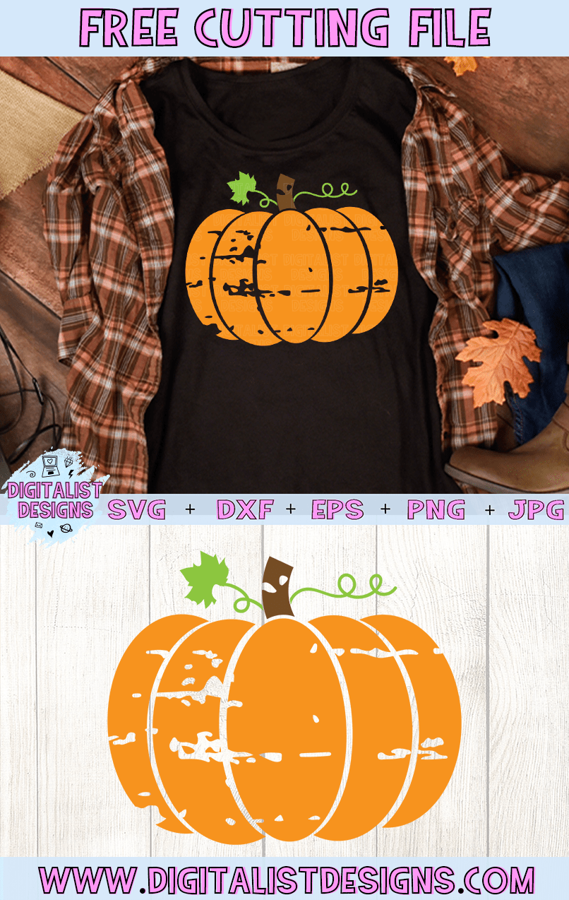 Free Grunge Pumpkin SVG file! This would be amazing for a variety of DIY Fall or Halloween craft projects such as: HTV T-shirts, mugs, home decor, scrapbooking, stickers, planners, and more! Cricut Design Space and Silhouette Studio compatible. Free vector clip art printable.