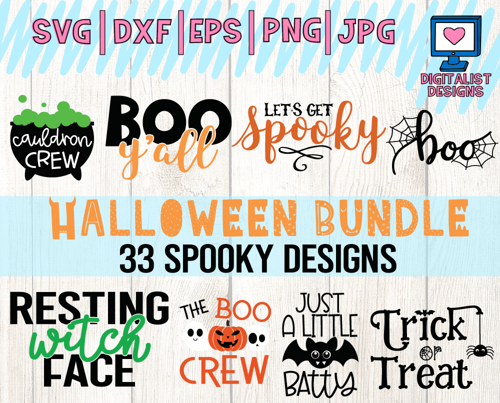 If you like this Grunge Pumpkin SVG, check out my Halloween SVG bundle! It contains 33 different Halloween SVG files that are sure to make your holiday a lot more spooky.