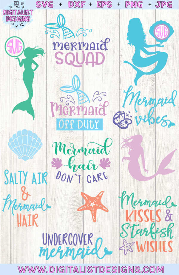 Mermaid SVG Bundle - 12 Designs