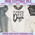 Free Pumpkin Spice Diva SVG file! This would be amazing for a variety of DIY Fall or Halloween craft projects such as: HTV T-shirts, mugs, home decor, scrapbooking, stickers, planners, and more! Cricut Design Space and Silhouette Studio compatible. Free vector clip art printable.