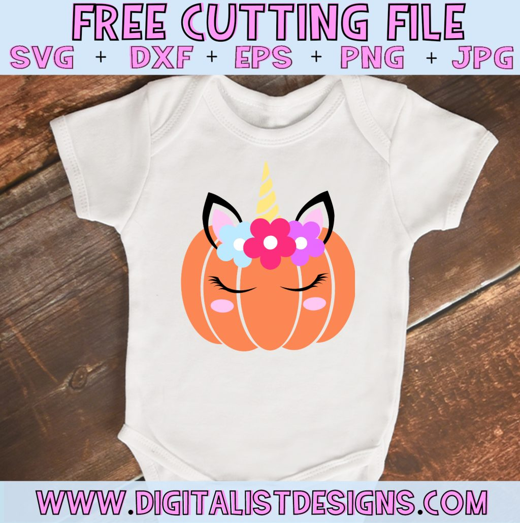 Free Unicorn Pumpkin SVG file! This would be amazing for a variety of DIY Thanksgiving craft projects such as: HTV T-shirts, mugs, home decor, scrapbooking, stickers, planners, and more! Cricut Design Space and Silhouette Studio compatible. Free vector clip art printable.