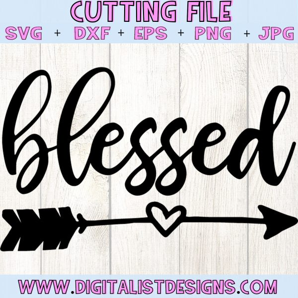 Blessed Arrow SVG file! This would be amazing for a variety of DIY Thanksgiving craft projects such as: HTV T-shirts, mugs, home decor, scrapbooking, stickers, planners, and more! Cricut Design Space and Silhouette Studio compatible. Free vector clip art printable.