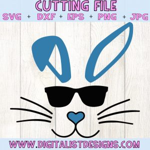 Bunny Sunglasses SVG cut file! This would be amazing for a variety of DIY Easter craft projects such as: HTV T-shirts, mugs, home decor, scrapbooking, stickers, planners, and more! Cricut Design Space and Silhouette Studio compatible. Vector clip art printable.