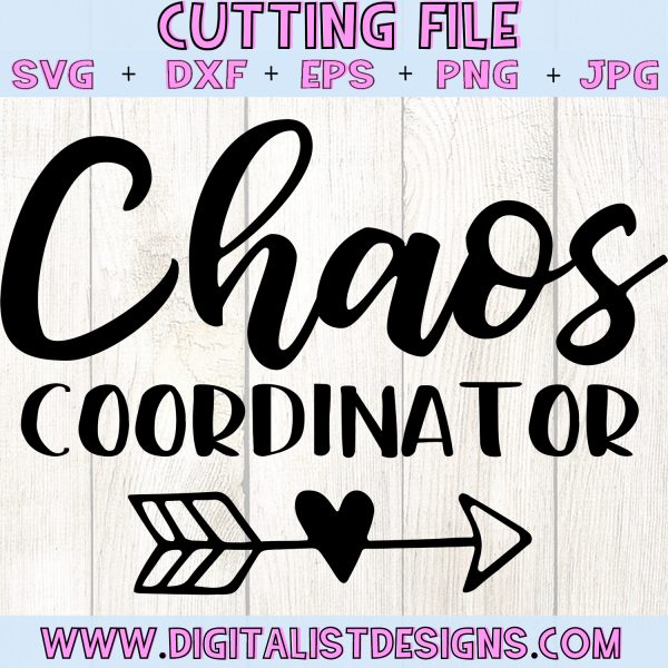 Chaos Coordinator SVG file! This would be amazing for a variety of DIY Teacher craft projects such as: HTV T-shirts, mugs, home decor, scrapbooking, stickers, planners, and more! Cricut Design Space and Silhouette Studio compatible. Free vector clip art printable.