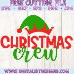 Christmas Crew SVG file! This would be amazing for a variety of DIY Christmas craft projects such as: HTV T-shirts, mugs, home decor, scrapbooking, stickers, planners, and more! Cricut Design Space and Silhouette Studio compatible. Free vector clip art printable.
