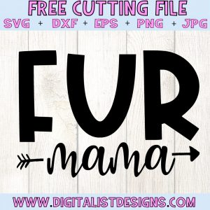 Free Fur Mama SVG file! This would be amazing for a variety of DIY Animal craft projects such as: HTV T-shirts, mugs, home decor, scrapbooking, stickers, planners, and more! Cricut Design Space and Silhouette Studio compatible. Free vector clip art printable.