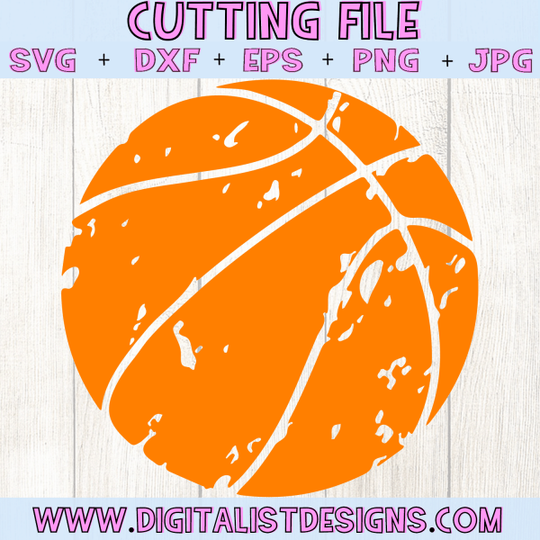 Grunge Basketball SVG file! This would be amazing for a variety of DIY Sports craft projects such as: HTV T-shirts, mugs, home decor, scrapbooking, stickers, planners, and more! Cricut Design Space and Silhouette Studio compatible. Vector clip art printable.
