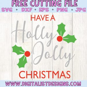Have a Holly Jolly Christmas SVG file! This would be amazing for a variety of DIY Christmas craft projects such as: HTV T-shirts, mugs, home decor, scrapbooking, stickers, planners, and more! Cricut Design Space and Silhouette Studio compatible. Free vector clip art printable.