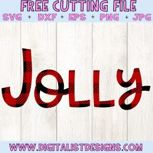 Plaid Jolly SVG file! This would be amazing for a variety of DIY Christmas craft projects such as: HTV T-shirts, mugs, home decor, scrapbooking, stickers, planners, and more! Cricut Design Space and Silhouette Studio compatible. Free vector clip art printable.