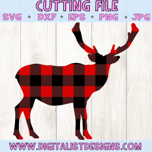 Plaid Moose SVG file! This would be amazing for a variety of DIY Christmas craft projects such as: HTV T-shirts, mugs, home decor, scrapbooking, stickers, planners, and more! Cricut Design Space and Silhouette Studio compatible. Free vector clip art printable.