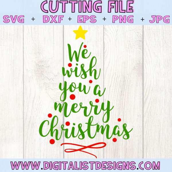 We wish you a merry christmas tree SVG file! This would be amazing for a variety of DIY Christmas craft projects such as: HTV T-shirts, mugs, home decor, scrapbooking, stickers, planners, and more! Cricut Design Space and Silhouette Studio compatible. Free vector clip art printable.