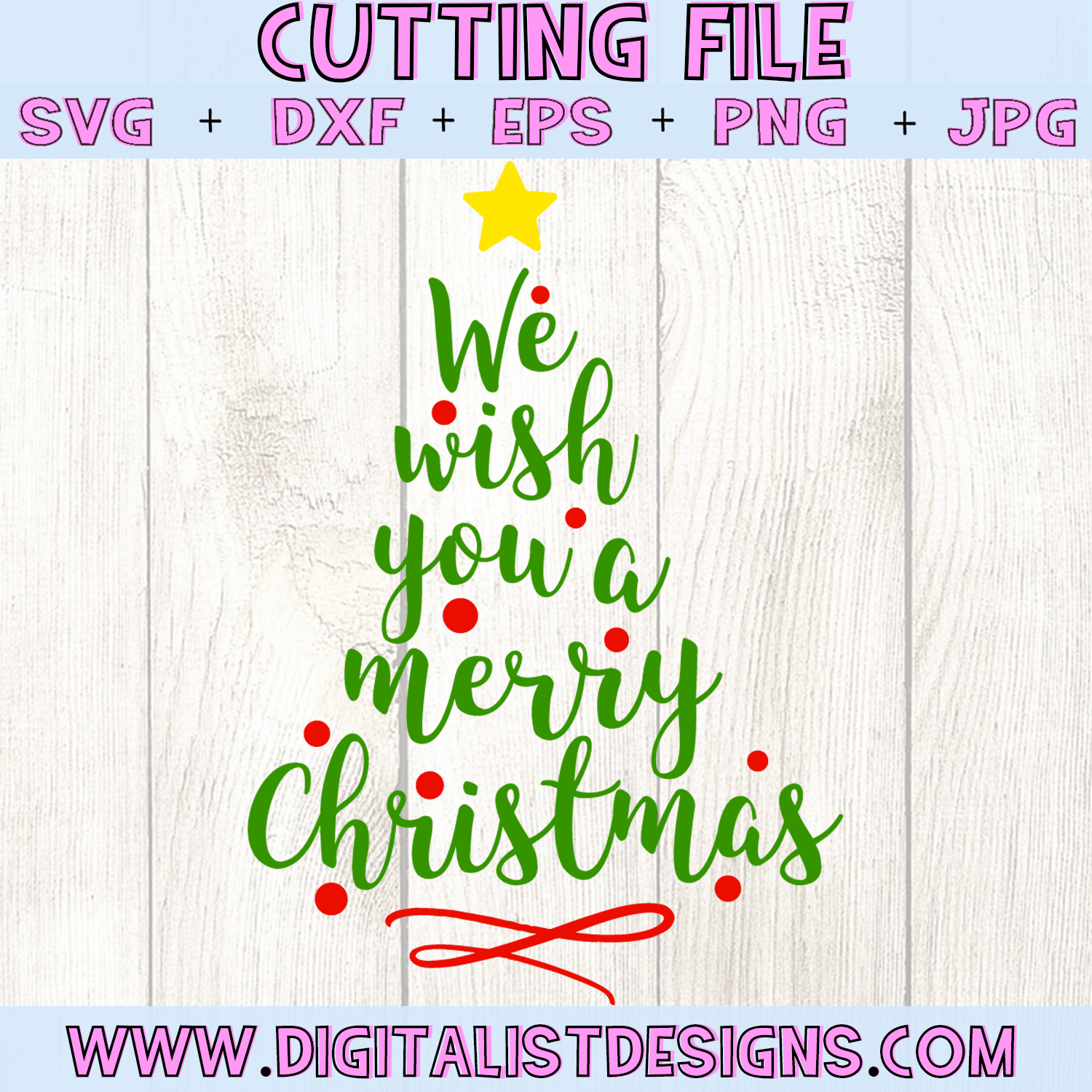 Wishing You A Merry Christmas.We Wish You A Merry Christmas Svg