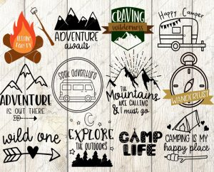 Happy Camper SVG Bundle - 12 Designs