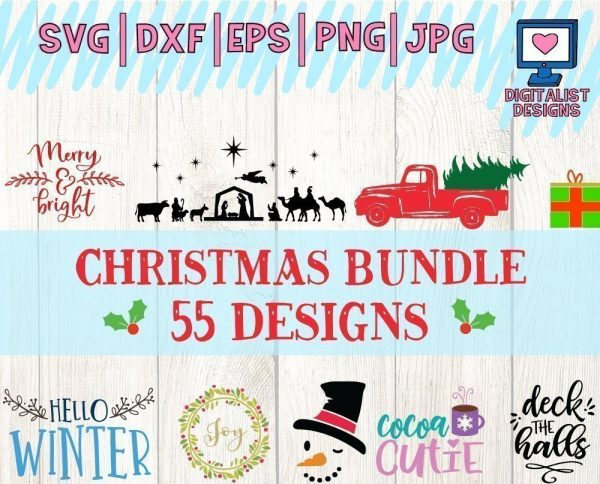 Christmas SVG Bundle - 55 Designs