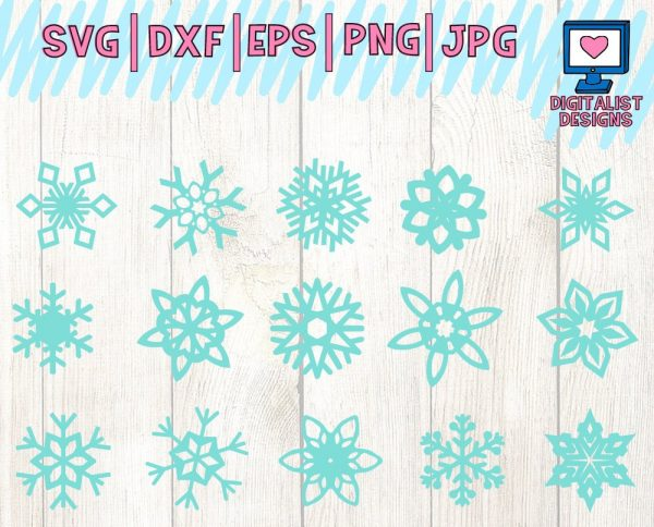 Snowflake SVG Bundle - 15 Designs