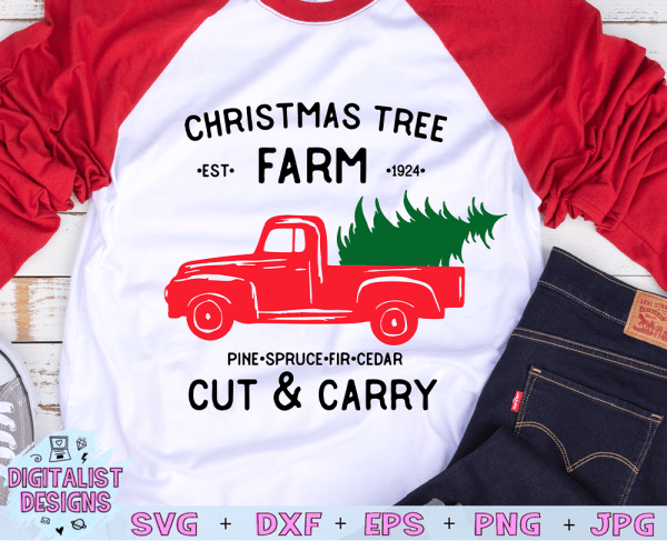 Christmas Tree Farm Truck SVG file! This would be amazing for a variety of DIY Christmas craft projects such as: HTV T-shirts, mugs, home decor, scrapbooking, stickers, planners, and more! Cricut Design Space and Silhouette Studio compatible. Free vector clip art printable.