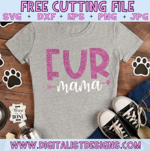 Free Fur Mama SVG cut file! This would be amazing for a variety of DIY craft projects such as: HTV T-shirts, mugs, home decor, scrapbooking, stickers, planners, and more! Cricut Design Space and Silhouette Studio compatible. Free vector clip art printable.