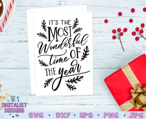 It's the most wonderful time of the year SVG file! This would be amazing for a variety of DIY Christmas craft projects such as: HTV T-shirts, mugs, home decor, scrapbooking, stickers, planners, and more! Cricut Design Space and Silhouette Studio compatible. Free vector clip art printable.