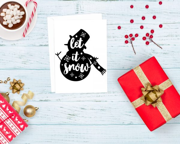 Let it Snow - Snowman SVG