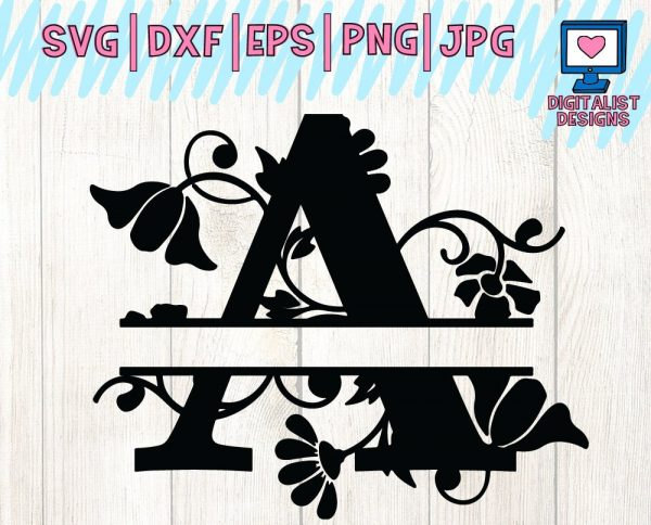 Split Monogram SVG
