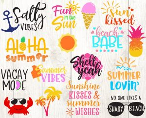 Summer SVG Bundle - 16 Designs