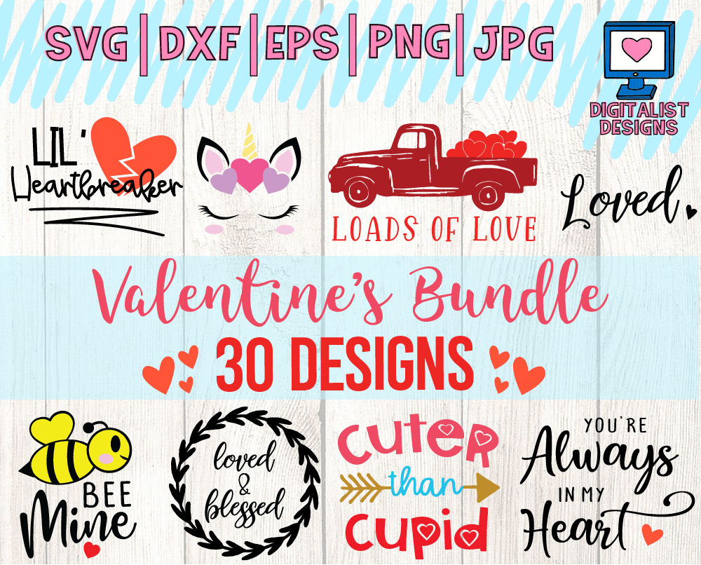 Free SVG - Hugs & Kisses SVG - Valentine's Day SVG