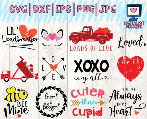 Valentine's SVG Bundle Page 2