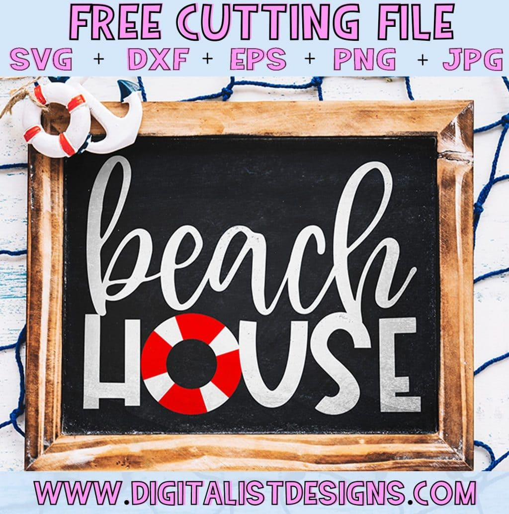 Free Beach House SVG cut file! This would be amazing for a variety of DIY Summer craft projects such as: HTV T-shirts, mugs, home decor, scrapbooking, stickers, planners, and more! Cricut Design Space and Silhouette Studio compatible. Vector clip art printable.