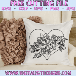 Free Floral Heart SVG cut File | Valentine's Day Free SVG files for Cricut & Silhouette