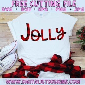 Free Plaid Jolly SVG file! This would be amazing for a variety of DIY Christmas craft projects such as: HTV T-shirts, mugs, home decor, scrapbooking, stickers, planners, and more! Cricut Design Space and Silhouette Studio compatible. Free vector clip art printable.
