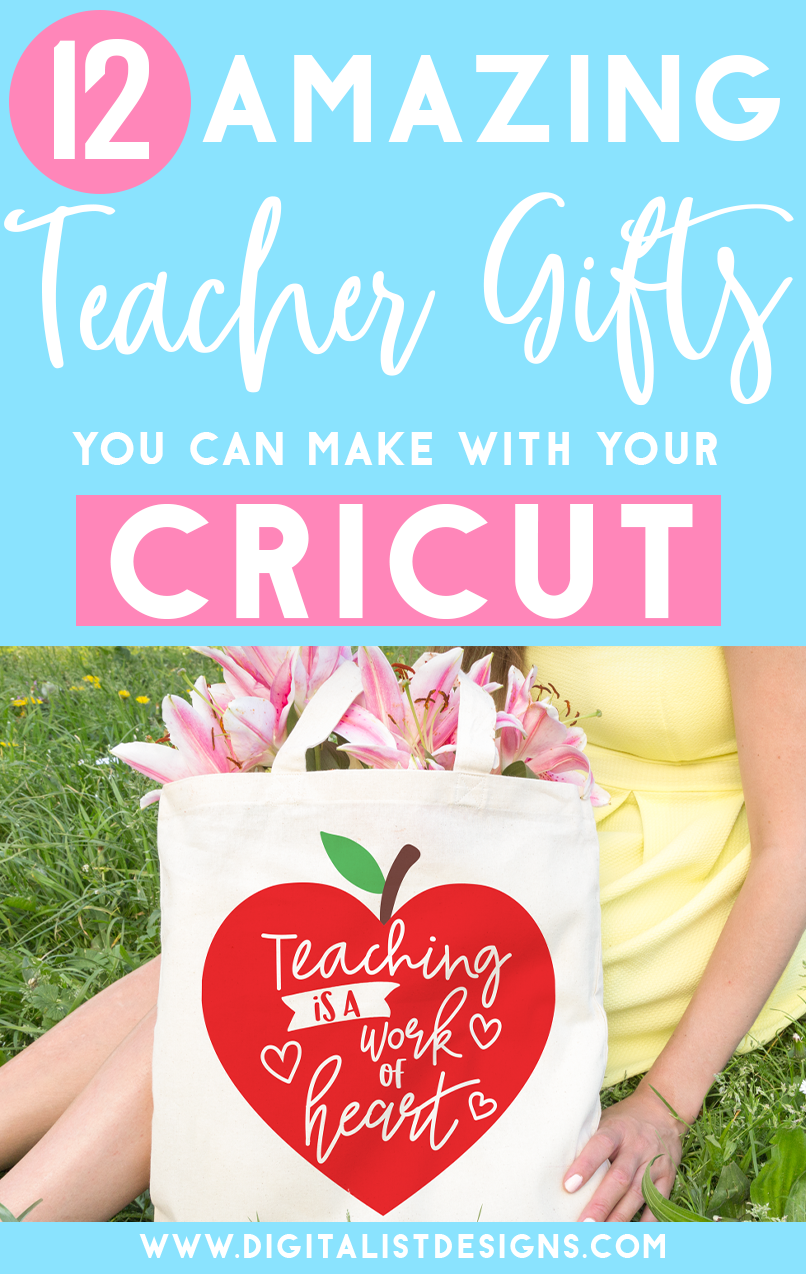In honor of teacher appreciation (and because I love to craft!), I compiled a list of 12 Cricut Gift Ideas for Teachers. Whether you're making gifts for your own teachers, or your helping your child show their appreciation to their teachers, I think any one of these gift ideas will make them feel so special!