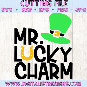Mr. Lucky Charm SVG file! This would be amazing for a variety of DIY St. Patrick's Day craft projects such as: HTV T-shirts, mugs, home decor, scrapbooking, stickers, planners, and more! Cricut Design Space and Silhouette Studio compatible. Free vector clip art printable.