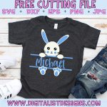 Free Split Monogram Easter Bunny SVG for Boys file! This would be amazing for a variety of DIY Easter craft projects such as: HTV T-shirts, mugs, home decor, scrapbooking, stickers, planners, and more! Cricut Design Space and Silhouette Studio compatible. Free vector clip art printable.