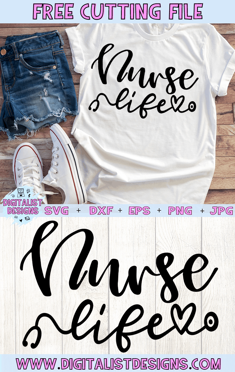 Free Nurse Life SVG file! This would be amazing for a variety of DIY nurse craft projects such as: HTV T-shirts, mugs, home decor, scrapbooking, stickers, planners, and more! Cricut Design Space and Silhouette Studio compatible. Free vector clip art printable.