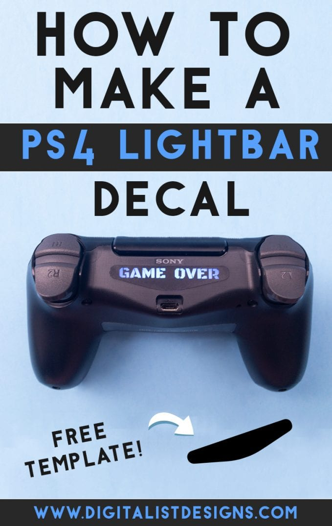 Learn how to make your own Custom PS4 Light Bar Decal Sticker with the Cricut or using an exacto knife! An easy DIY craft tutorial idea that makes a great