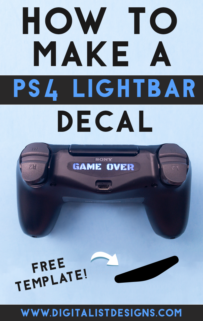 Learn how to make your own Custom PS4 Light Bar Decal Sticker with the Cricut or using an exacto knife! An easy DIY craft tutorial idea that makes a great gift for gamers!