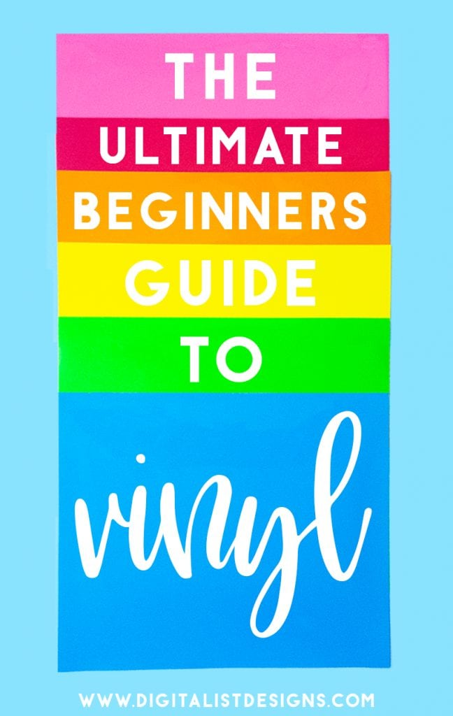 Here is the BEST beginners guide to choosing the perfect type of vinyl for all of your Cricut and Silhouette craft projects with some amazing tips and tricks that will help you along the way. #vinyl #cricut #silhouette #diy