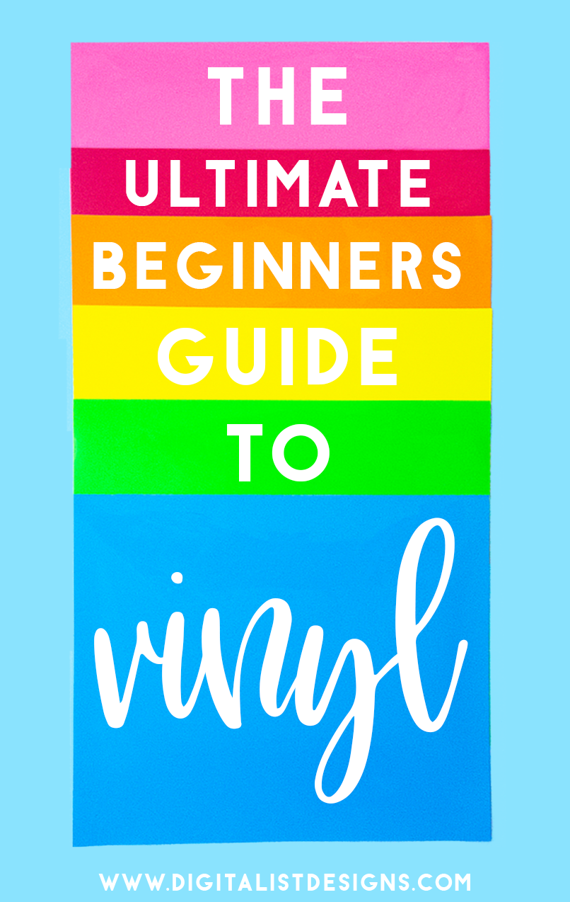Are you looking to learn the difference between types of vinyl to use with your Cricut or Silhouette? If you're interested in creating amazing craft projects and creations that will last, you need to read the ultimate beginners guide to vinyl. Here is the BEST beginners guide to choosing the perfect type of vinyl for all of your Cricut and Silhouette craft projects with some amazing tips and tricks that will help you along the way. #vinyl #cricut #silhouette #diy