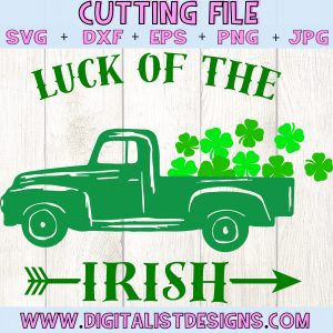 Luck of the Irish SVG file! This would be amazing for a variety of DIY St. Patrick's Day craft projects such as: HTV T-shirts, mugs, home decor, scrapbooking, stickers, planners, and more! Cricut Design Space and Silhouette Studio compatible. Vector clip art printable.