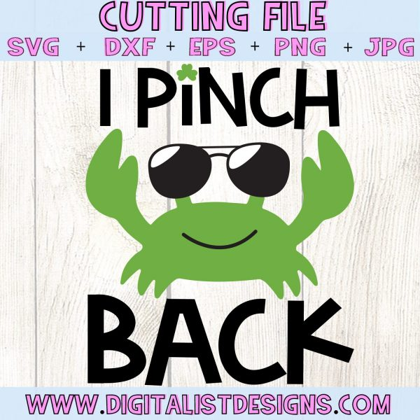 I Pinch Back SVG file! This would be amazing for a variety of DIY St. Patrick's Day craft projects such as: HTV T-shirts, mugs, home decor, scrapbooking, stickers, planners, and more! Cricut Design Space and Silhouette Studio compatible. Vector clip art printable.