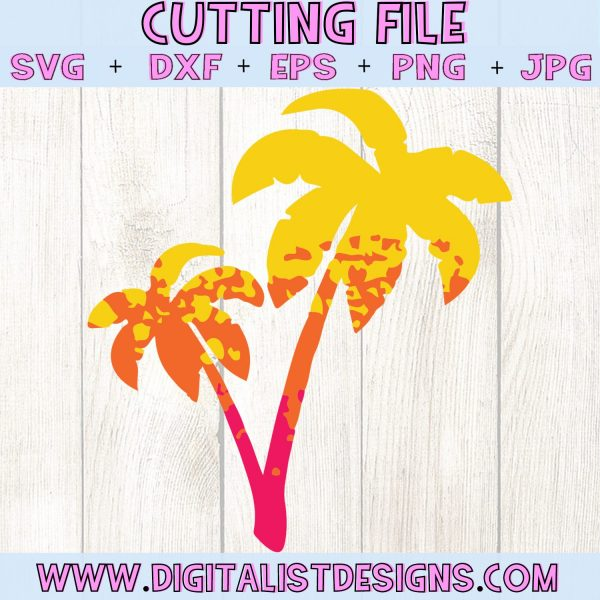 Ombre Palm Trees SVG