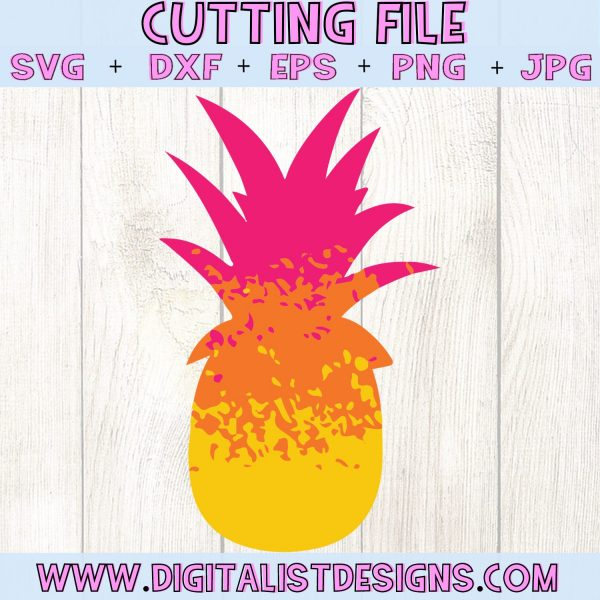 Ombre Pineapple SVG cut file! This would be amazing for a variety of DIY Summer craft projects such as: HTV T-shirts, mugs, home decor, scrapbooking, stickers, planners, and more! Cricut Design Space and Silhouette Studio compatible. Vector clip art printable.