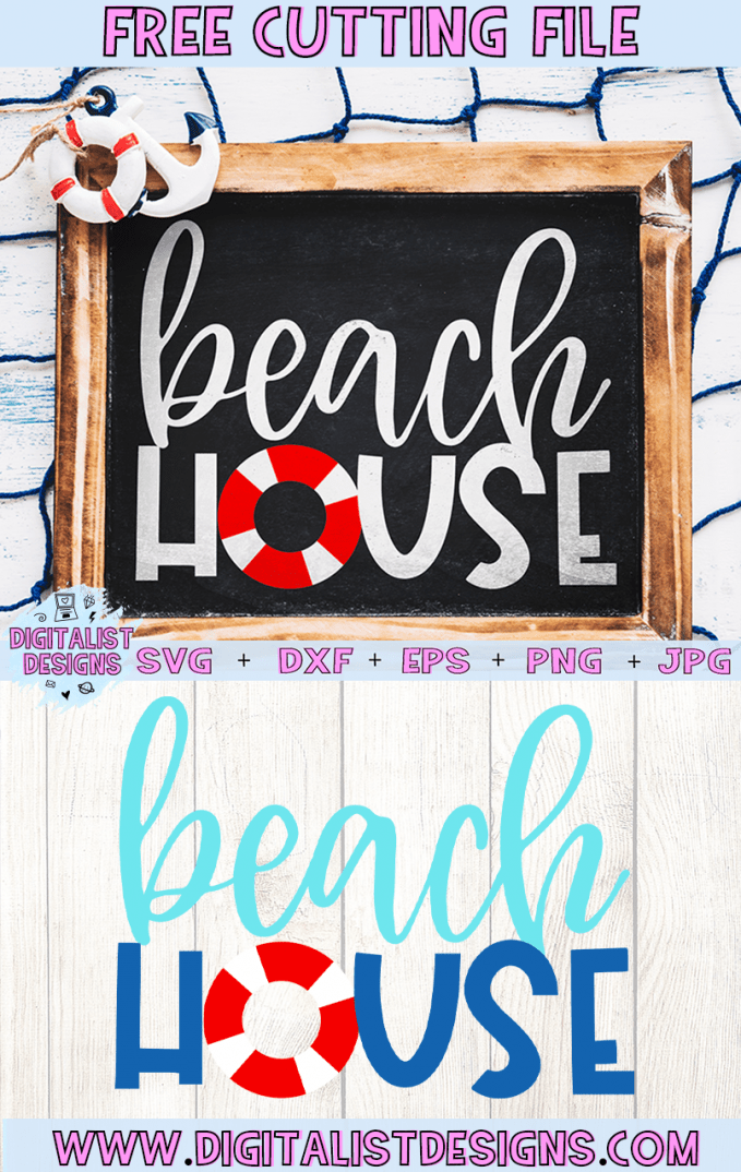 Beach House SVG cut file! This would be amazing for a variety of DIY Summer craft projects such as: HTV T-shirts, mugs, home decor, scrapbooking, stickers, planners, and more! Cricut Design Space and Silhouette Studio compatible. Vector clip art printable.