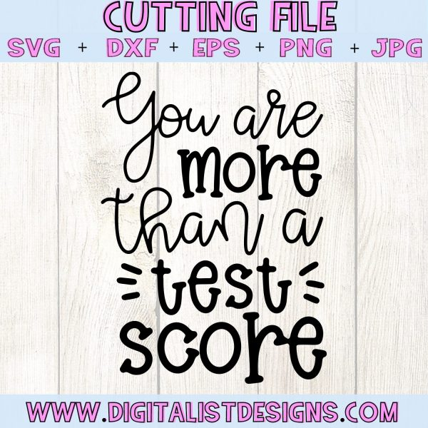You are More Than a Test Score SVG