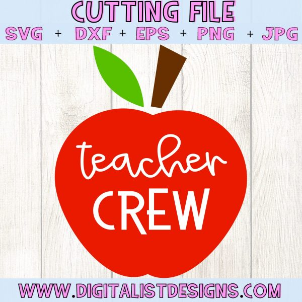 Teacher Crew Apple SVG